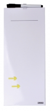 , Whiteboard Desq memo 15x35cm randloos  + marker - pijlen