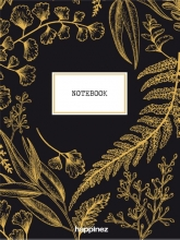 , Happinez botanical notebook zwart