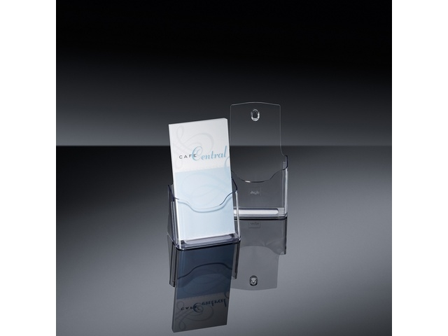 ,folderhouder Sigel tafelmodel DIN lang transparant acryl 1  vak