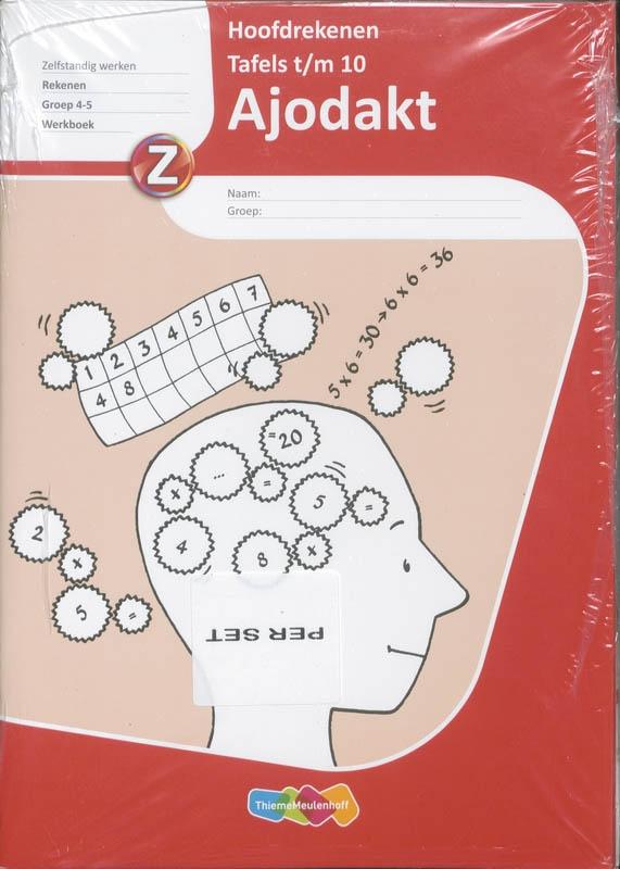 TR2 tekstproducties,Ajodakt Hoofdrekenen Tafels 1 t/m 10 5 ex Gr 4-5 Werkboek