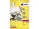 ,laseretiket Avery 72x21,2mm wit 25 vel 24 etiketten per vel