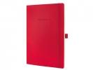,notitieboek Sigel Conceptum Pure softcover A4 rood          gelinieerd