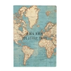 ,Notebook A5 vintage world map