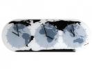 <b>Wandklok Nextime 50 x 18.6 x 3.6, glas, `Mondial`</b>,