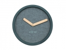 ,Wandklok NeXtime dia. 30 cm, hout & stof, turquoise, `Calm`