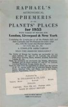 Raphael`s Astronomical Ephemeris of the Planets` Places