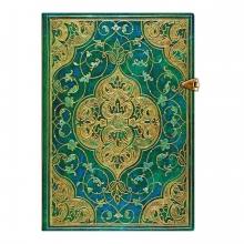 Pb32144 Paperblank notitieboek midi lijn turquoise chronicles