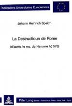 Speich, Johann Heinrich La Destructioun de Rome