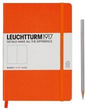 Lt342936 , Leuchtturm notitieboek medium 145x210 blanco oranje