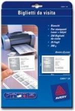 , Visitekaart Avery C32011-25 85x54mm 200gr 250stuks