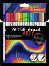 , Brushstift STABILO ARTY Pen 68 etui à 18 kleuren