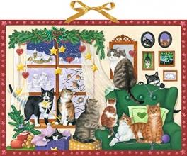 , Wand-Adventskalender - Gemütlicher Advent mit Katzen