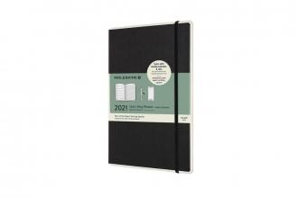 , Moleskine 12 MND Agenda - 2021 - Paper Tablet Smart Planner - Wekelijks - Large (13x21 cm) - Zwart