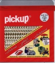 12282008 goud , Pickup vivace a-z/0-9 8mm goud