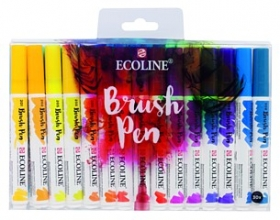 , Brushpen Talens Art Creation Ecolline assorti etui à 15stuks