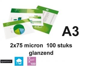 , Lamineerhoes Quantore A3 2x75micron 100stuks