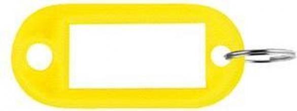 , Sleutellabel Pavo kunststof geel