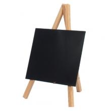 , Krijtbord Securit mini 3-poot 26x15.5x1.3cm blank hout