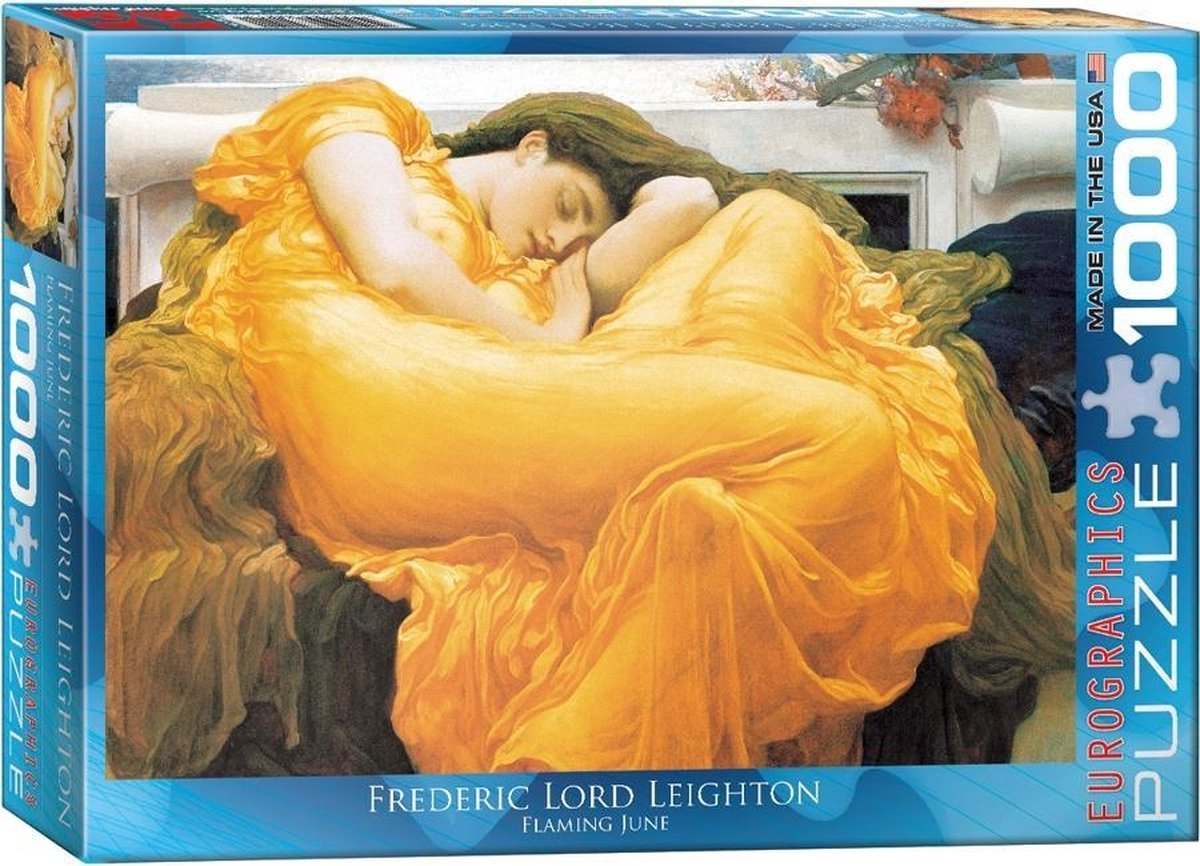 Eur-6000-3214,Puzzel flaming june - frederic lord leighton- 1000 stuk