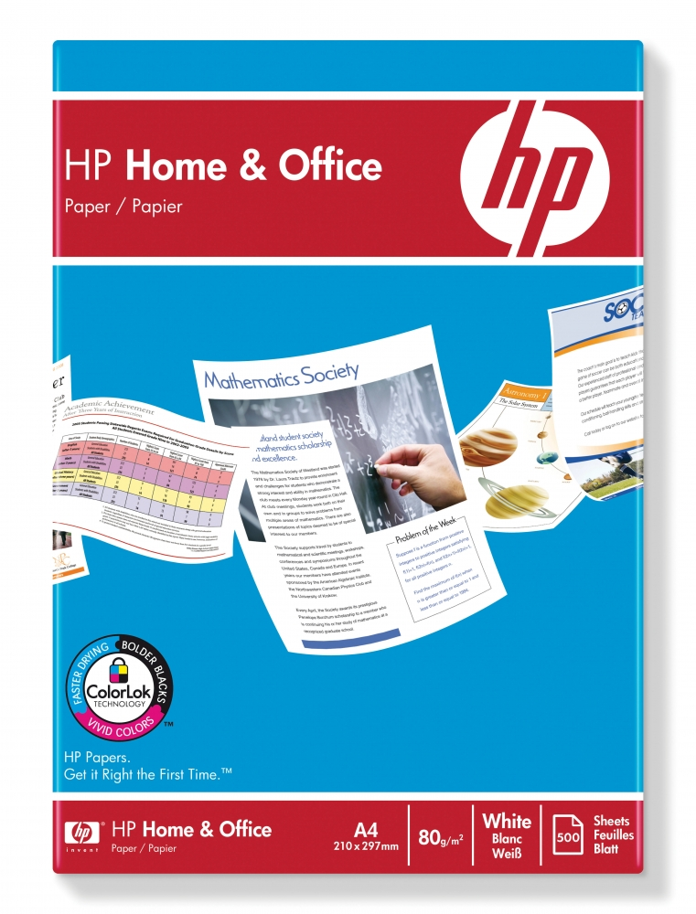 ,Kopieerpapier HP Home & Office A4 80gr wit 500vel