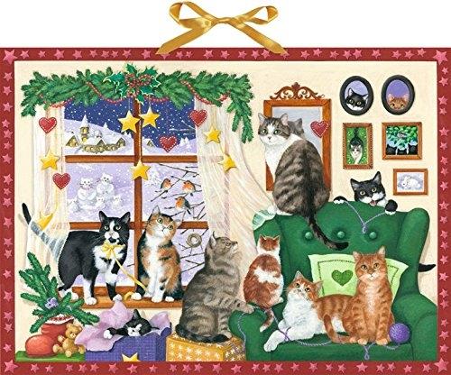 ,Wand-Adventskalender - Gemütlicher Advent mit Katzen