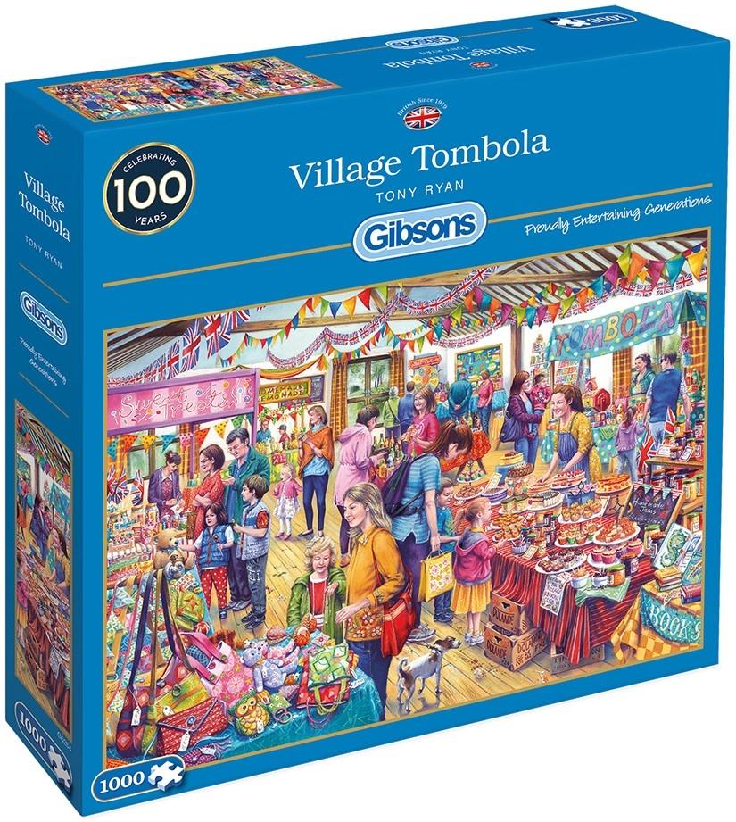 Gib-g6254,Puzzel gibsons village tombola - tony ryan - 1000 stukjes