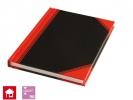, Notitieboek Neutraal A7 Lijn 60gr Rood/Zwart