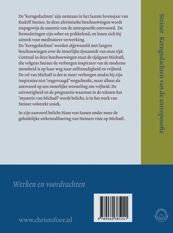 Rudolf Steiner,Kerngedachten van de antroposofie