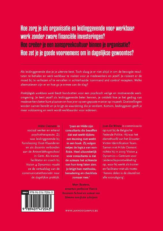 Joan De Winne, Hilde Clement,Praktijkgids werkbaar werk