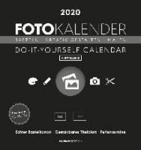 Foto-Bastelkalender 2020 datiert, schwarz