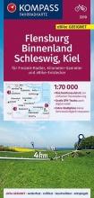 , KOMPASS Fahrradkarte Flensburg Binnenland, Schleswig, Kiel 1:70.000, FK 3310