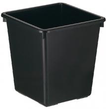 , Papierbak kunststof vierkant taps 27liter zwart
