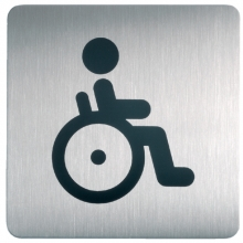 , Infobord pictogram Durable 4959 vierkant WC invalide 150mm