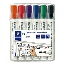 , Viltstift Staedtler Lumocolor 351 whiteboard set à 6 stuks assorti