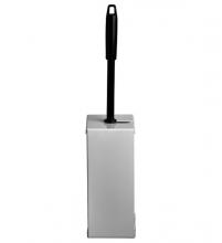 , Toiletborstelhouder Euro Quartz RVS wit