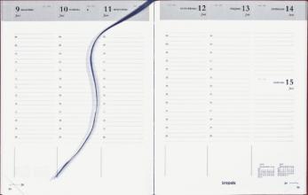 , Agenda 2021 Brepols Timing 7dag/2pagina`s Nederlands bordeau