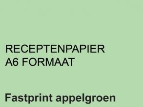 , Receptpapier Fastprint A6 80gr appelgroen 2000vel