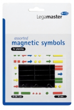, Magneet Legamaster symbolen 10mm zwart assorti