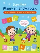 , Superleuk kleur- en stickerboek - Allereerste woorden vormen (5-6 j.)
