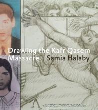 Samia  Halaby Drawing the Kafr Qasem Massacre