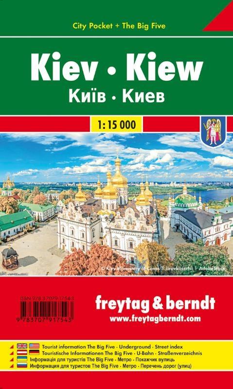 ,Kiew, Stadtplan 1:10.000, City Pocket + The Big Five