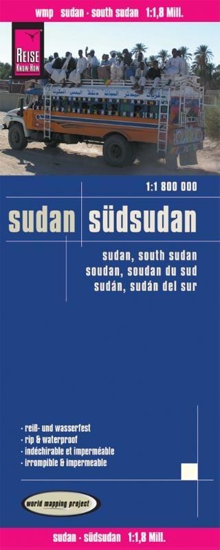 ,Reise Know-How Landkarte Sudan, Südsudan (1:1.800.000)