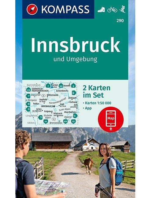 KOMPASS-Karten GmbH,KOMPASS Wanderkarte Innsbruck und Umgebung