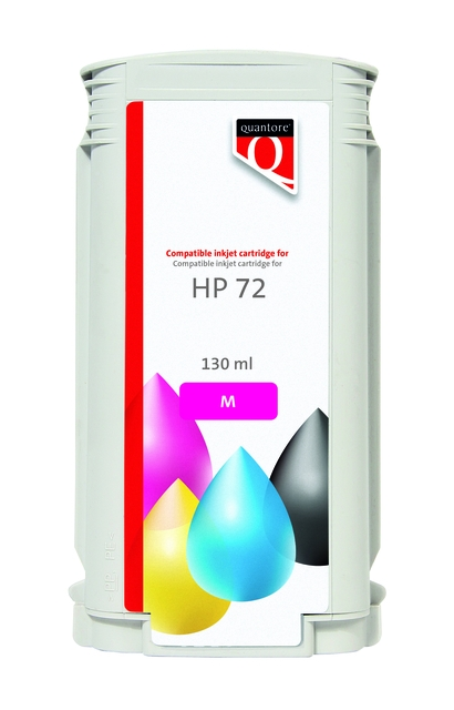 ,Inkcartridge Quantore HP 72 C9372A rood