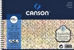 ,Aquarelblok Canson 12.5x18cm 12V 300gr grof spiraal