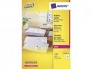 ,adresetiket Avery QuickPeel 63,5x33,9 wit 100 vel 24        etiketten per vel