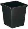 ,<b>Papierbak kunststof vierkant taps 27liter zwart</b>