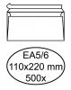 ,<b>Envelop Quantore bank EA5/6 110x220mm zelfklevend wit 500st.</b>