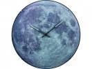 ,Wandklok NeXtime dia. 35 cm, bol glas, `blauw Moon dome`