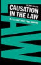 Hart H L, a Causation in the Law
